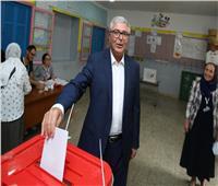 انتخابات تونس| المرشح عبد الكريم الزبيدي يدلي بصوته الانتخابي