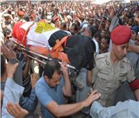 أهالي سمالوط بالمنيا يشيعون جنازة الشهيد المجند مصطفى سيد