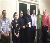 الأنبا باخوم يستقبل مرشد وضباط كادر المجلس الإقليمي للجيوماريا ملكة العالم
