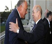 وزير الخارجية يبحث مع نظيره الفرنسي قضايا المنطقة