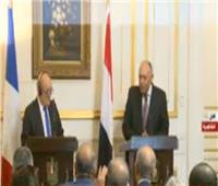 بث مباشر| مؤتمر صحفي لوزير الخارجية شكري ونظيره الفرنسي بالقاهرة
