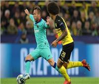 أبطال أوروبا| برشلونة ودورتموند يتعادلان سلبيًا بالشوط الأول