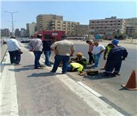 تطهير بالوعات حي شرق مدينة نصر استعدادًا لفصل الشتاء