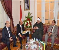 رئيس مجلس الدولة يستقبل وزير الأوقاف بعد تجديد الثقة في توليه منصبه