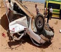 إصابة عامل ونجليه في حادثانقلاب سيارة ربع نقل بقنا