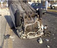 مصرع وإصابة 13 عمالا في حادث انقلاب سيارة نقل بمحور 30 يونيو