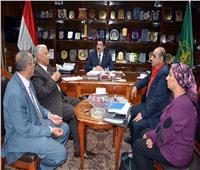 محافظ القليوبية يجتمع مع جهاز تعمير القاهرة الفاطمية