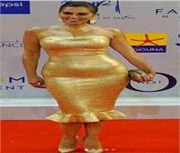 إطلالة ذهبية لـ«لقاء الخميسي» في مهرجان الجونة