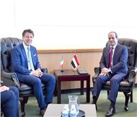 الرئيس السيسي يؤكد اهتمام مصر بتطوير أطر التعاون المشترك مع إيطاليا