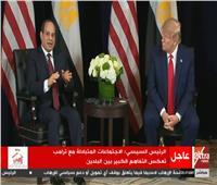 فيديو| السيسي لـ ترامب: المصريون رفضوا حكم الإسلام السياسي