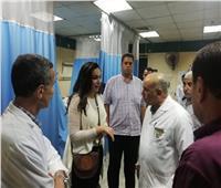 نائب محافظ البحيرة في زيارة ليلية لمستشفى دمنهور التعليمي