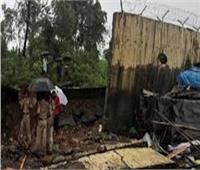 مصرع 4 أشخاص إثر انهيار جدار بسبب الأمطار بالهند