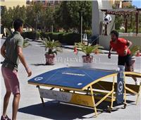 صور| حسام غالي يفوز على أحمد داوود في مباراة بالجونة