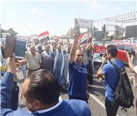شاهد  مسيرة حاشدة بطريق النصر لتأييد الرئيس ودعم الاستقرار