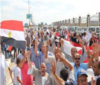 الآلاف يشاركون في مسيرة لدعم استقرار البلاد في كفر الشيخ
