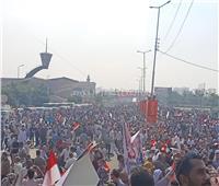 صور  مليونية أمام المنصة لتأييد الرئيس السيسي