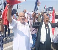 فيديو| بالمزمار والطبل البلدي.. مسيرة الصعايدة لتأييد الاستقرار
