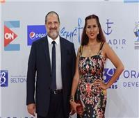 خالد الصاوي وزوجته يصلان حفل ختام مهرجان الجونة