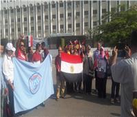 صور  تظاهرة حب داخل جامعة الأزهر لدعم «السيسي»