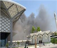 ننشر الصور الأولى لحريق محطة السليمانية بقطار الحرمين في جدة