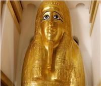 عرض التابوت الذهبي للكاهن «نچم عنخ» بمتحف الحضارة 1 أكتوبر
