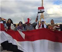 صور| الجالية المصرية في فرنسا تنظم وقفة لتأييد الرئيس السيسي