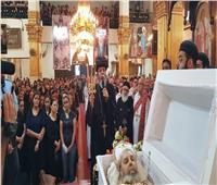 البابا تواضروس ينعي القمص مينا القمص سمعان