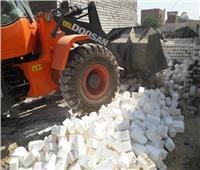 إزالة 11 حالة تعد بالبناء على الأراضي الزراعية ببني مزار في المنيا