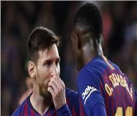 «ميسي» و«ديمبيلي» يشاركان في تدريب برشلونة