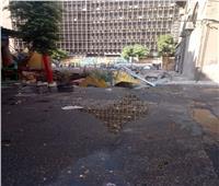 محافظ القاهرة يتفقد الهبوط الأرضي بشارع الألفي