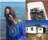 صور  مصرع فتاة بسبب انفجار بطارية هاتف محمول