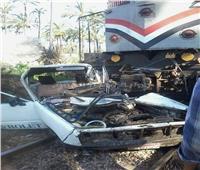 مصرع وإصابة 3 طالبات وسائق في تصادم قطار بسيارة بالبحيرة