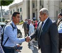 صور  «الخشت» في جولة بكليات الحرم الجامعي: سنقدم الأفضل للطلاب