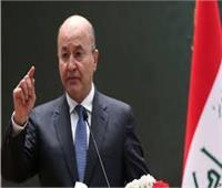 الرئيس العراقي يؤكد: المتورطون باستخدام العنف خلال المظاهرات سيحاسبون
