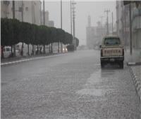 سقوط أمطار خفيفة على شمال سيناء