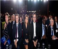 صور.. وزيرة الاستثمار لطلاب الجامعة الألمانية: حريصون على تفعيل دور الشباب