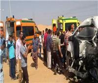 إصابة ١٤ عاملا في حادث تصادم بالطريق الزراعي بالبحيرة