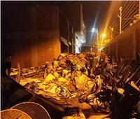 السيطرة على حريق مخزن «فِراشة» بمدينة طوخ