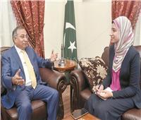 حوار| سفير باكستان في القاهرة: مصر دولة رائدة بالشرق الأوسط