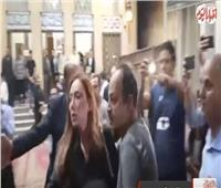 بالفيديو| ريهام سعيد في عزاء طلعت زكريا
