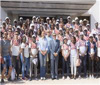 «ربيع» يلتقي الدفعة الثانية من البرنامج الرئاسي لتأهيل الشباب الإفريقي