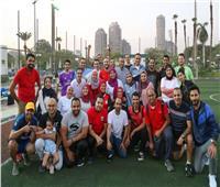 يوم رياضي لخريجي البرنامج الرئاسي بمركز شباب الجزيرة