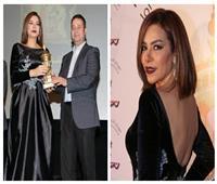 صور| ألفت عمر بإطلالة جذابة خلال تكريمها في الأردن