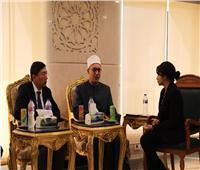أمين «البحوث الإسلامية» يبحث مع وفد سنغافوري سبل التعاون العلمي
