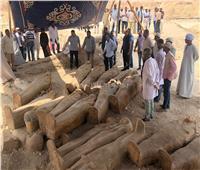 وزير الآثار يتفقد الكشف الأثري الجديد قبل إعلانه رسميا.. السبت