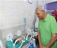محافظ المنوفية يفتتح بنك الدم وحضانات أطفال بمستشفى زاوية الناعورة