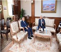 محافظ بورسعيد يستقبل رئيس هيئة قناة السويس لبحث التعاون المشترك