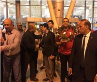 صور| استقبال بالورود لفرسان مصر أبطال إفريقيا المتأهلين لأولمبياد طوكيو