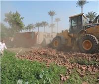 إزالة 60 حالة تعد على الأراضي الزراعية في المنيا