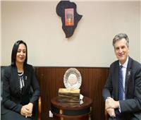 مايا مرسي تبحث سبل التعاون مع سفير بريطانيا